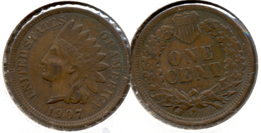 1907 Indian Head Cent EF-40 c