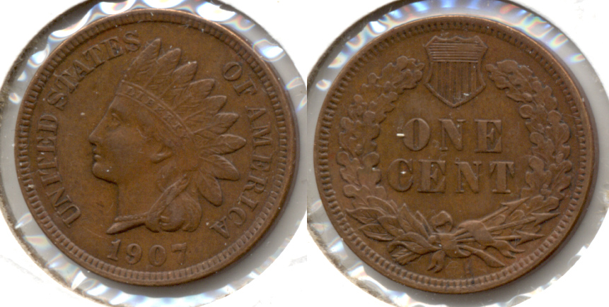 1907 Indian Head Cent EF-40 f