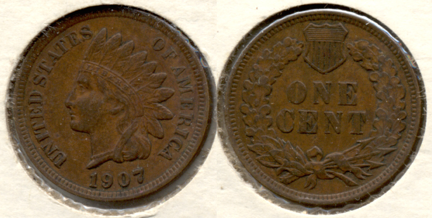 1907 Indian Head Cent EF-40 i