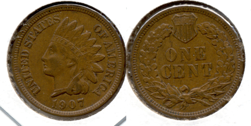 1907 Indian Head Cent EF-40 l