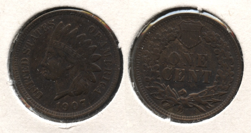 1907 Indian Head Cent EF-40 #z