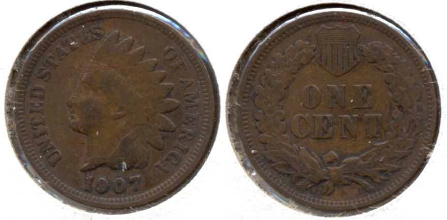 1907 Indian Head Cent Fine-12 c
