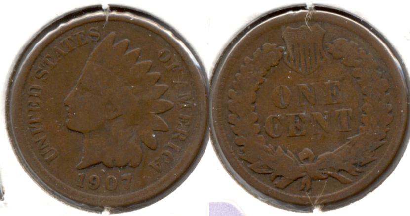 1907 Indian Head Cent Good-4