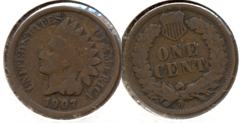 1907 Indian Head Cent Good-4 f