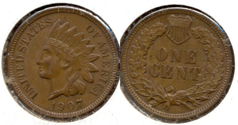 1907 Indian Head Cent MS-63 Brown