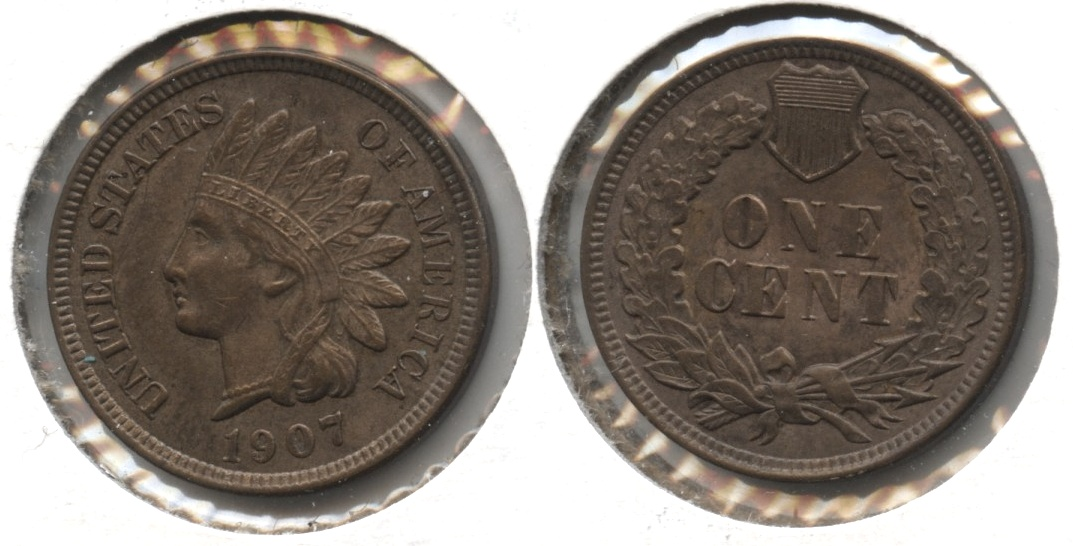1907 Indian Head Cent MS-63 Brown #h