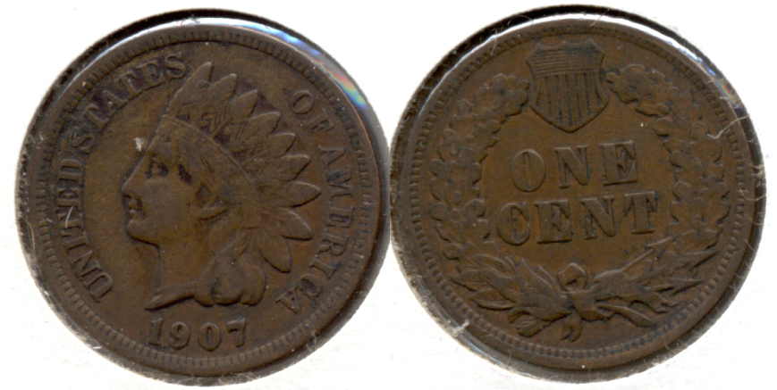 1907 Indian Head Cent VF-20 ae