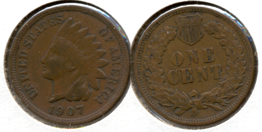 1907 Indian Head Cent VF-20 ai