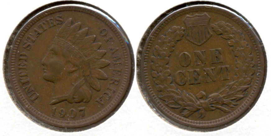 1907 Indian Head Cent VF-20 av