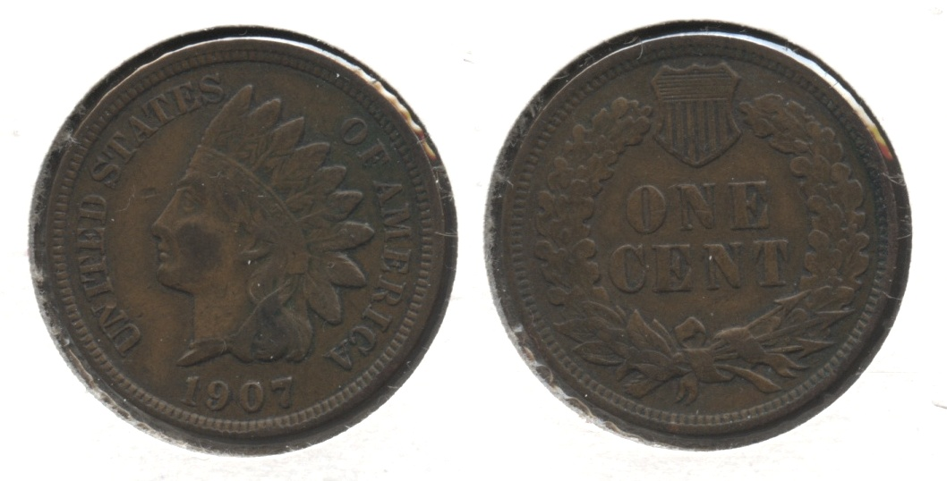1907 Indian Head Cent VF-20 #be