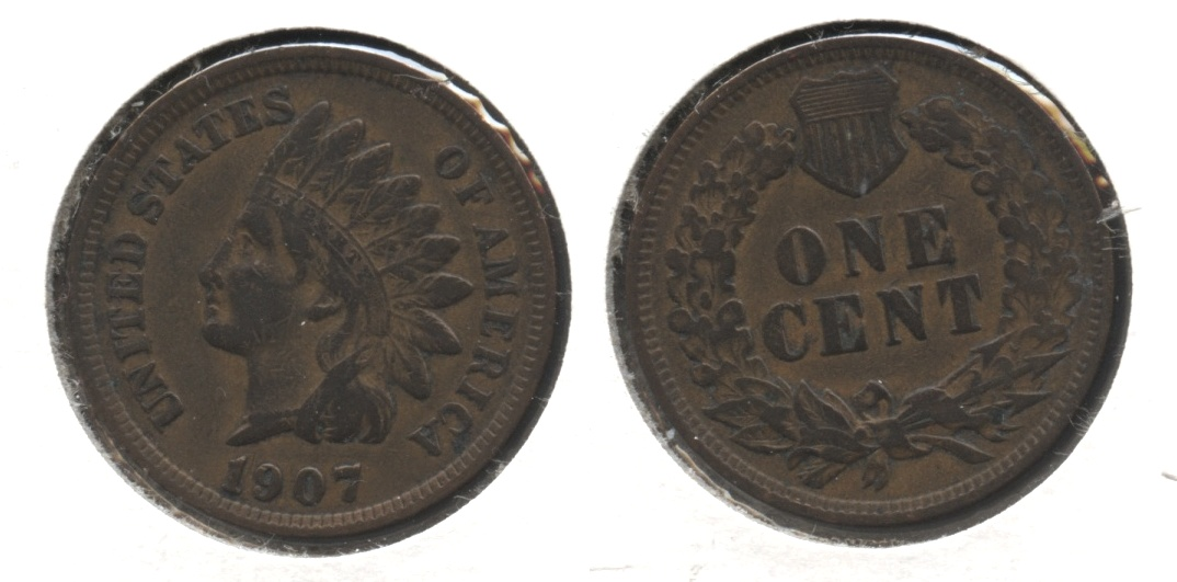 1907 Indian Head Cent VF-20 #bg