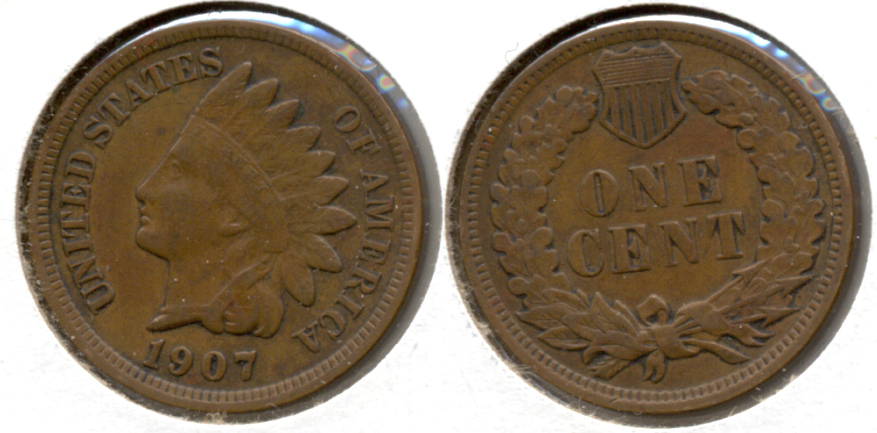 1907 Indian Head Cent VF-20 i