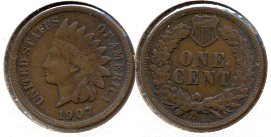1907 Indian Head Cent VF-20 n