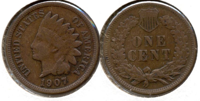 1907 Indian Head Cent VF-20 o