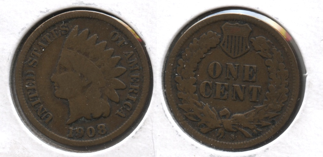 1908-S Indian Head Cent Good-4 #b