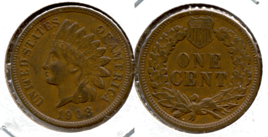 1908 Indian Head Cent EF-40 d