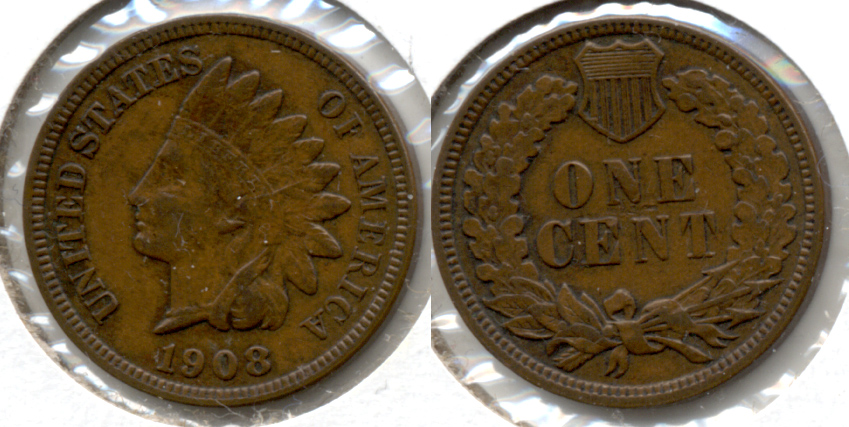 1908 Indian Head Cent EF-40 e