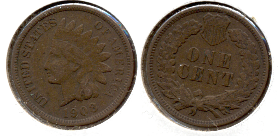 1908 Indian Head Cent Fine-12 l