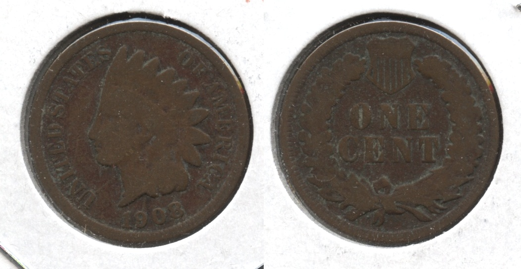 1908 Indian Head Cent Good-4 #g