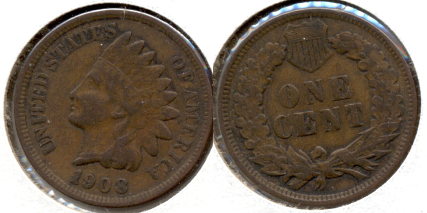 1908 Indian Head Cent VF-20 c