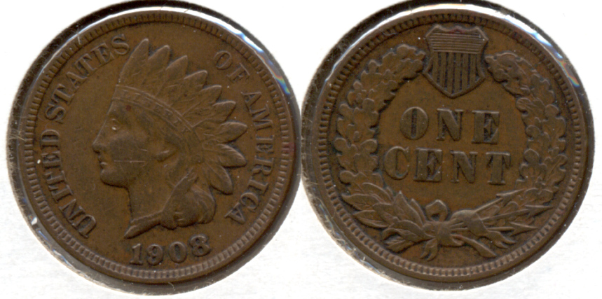 1908 Indian Head Cent VF-20 j
