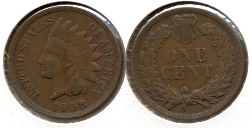 1908 Indian Head Cent VF-20 m