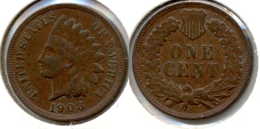 1908 Indian Head Cent VG-8