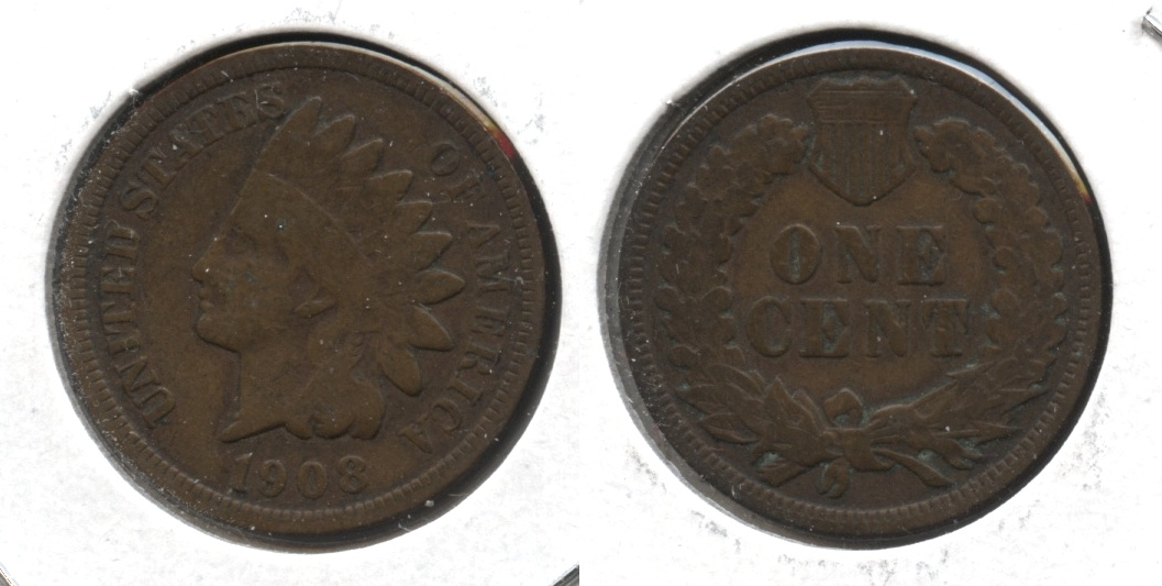 1908 Indian Head Cent VG-8 #m