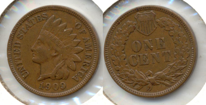 1909 Indian Head Cent AU-50 h