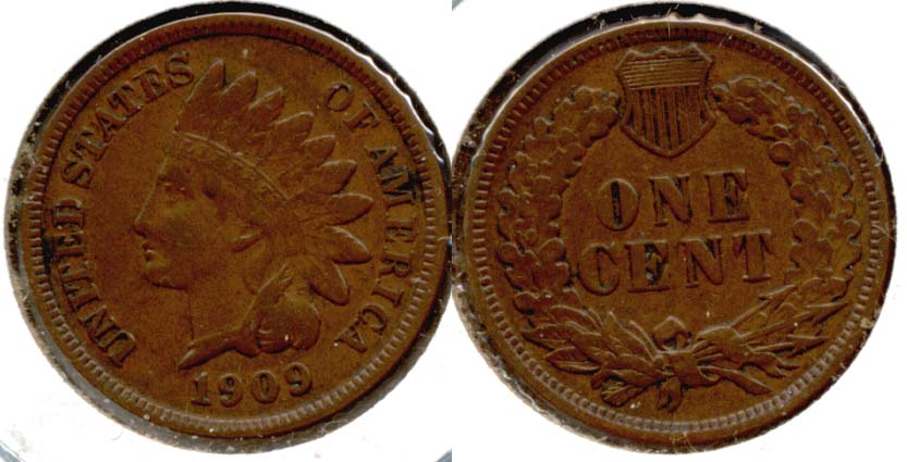 1909 Indian Head Cent EF-40 c
