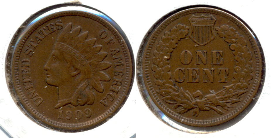 1909 Indian Head Cent EF-40 f
