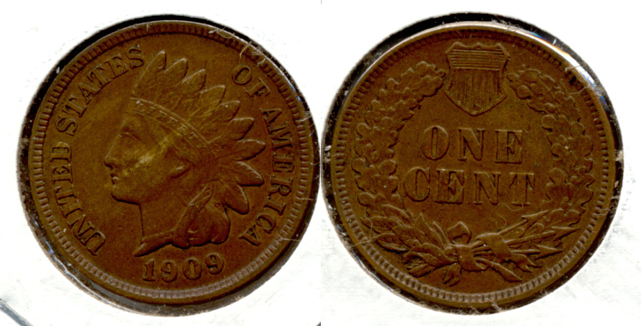 1909 Indian Head Cent EF-40 h