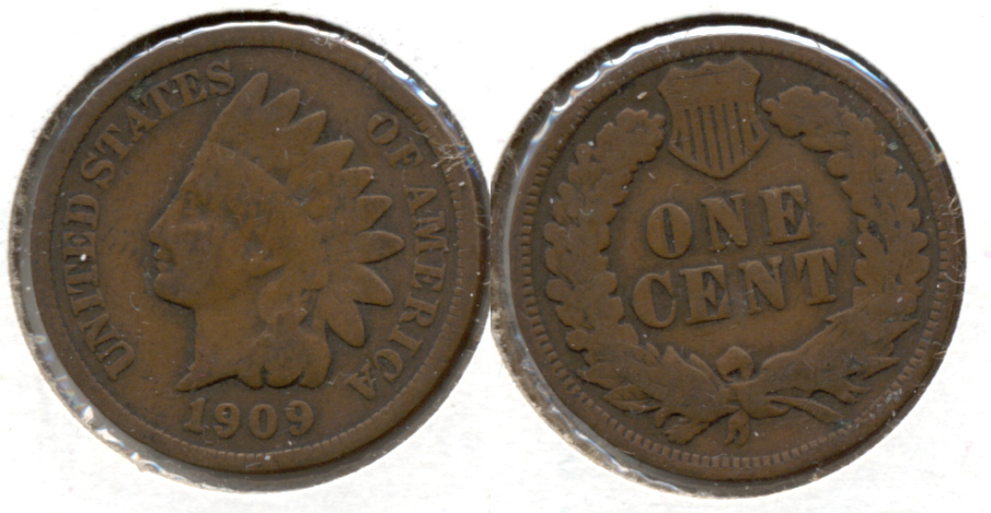1909 Indian Head Cent Good-4