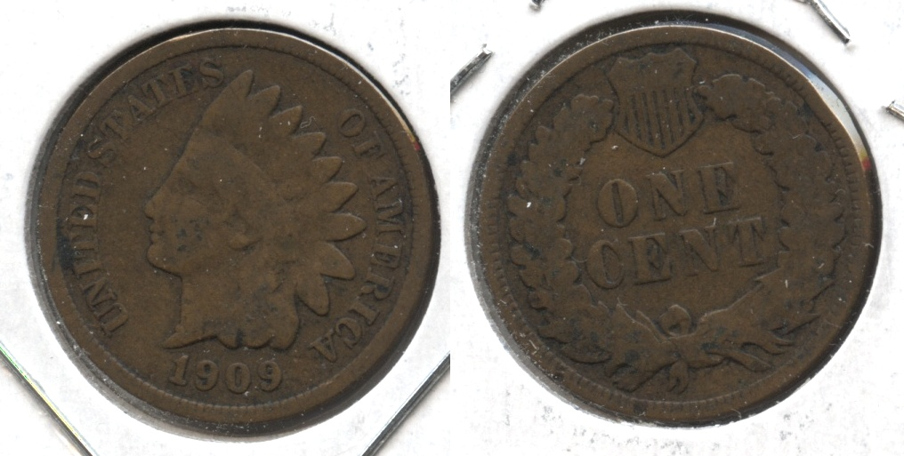 1909 Indian Head Cent Good-4 #as