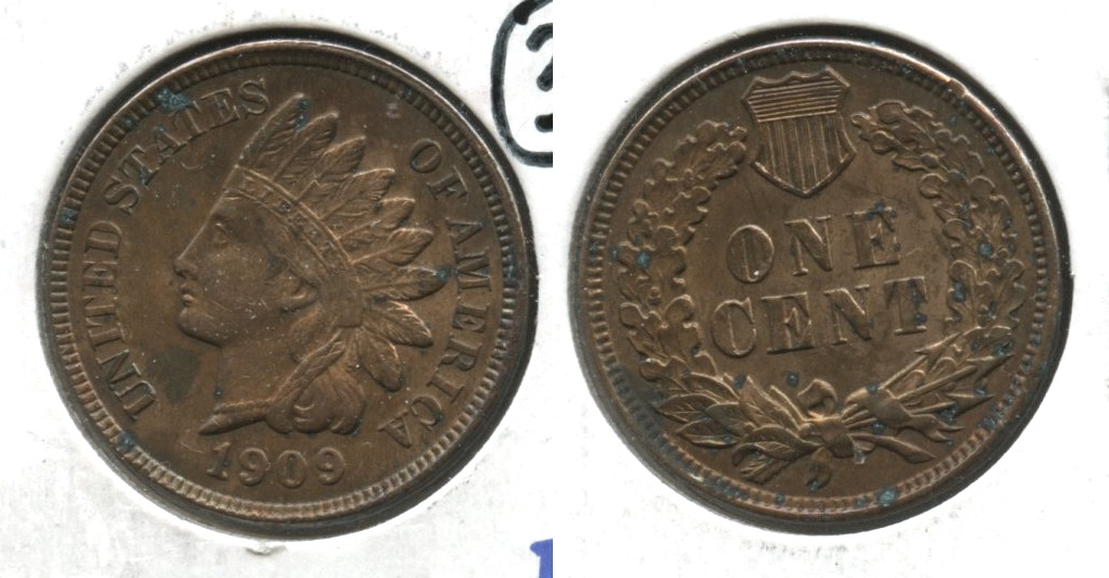 1909 Indian Head Cent MS-60 Carbon