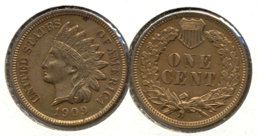 1909 Indian Head Cent MS-63 Red Brown
