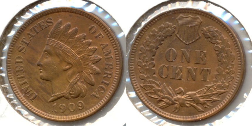 1909 Indian Head Cent MS-63 Red Brown a