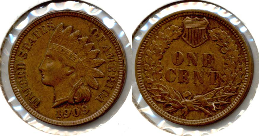 1909 Indian Head Cent MS-64 Brown