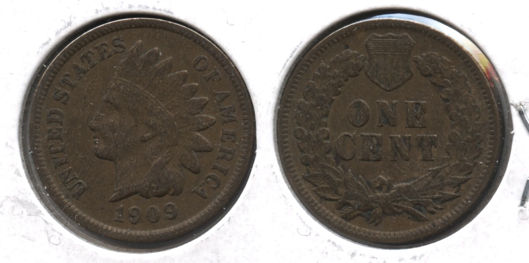 1909 Indian Head Cent VF-20 #h