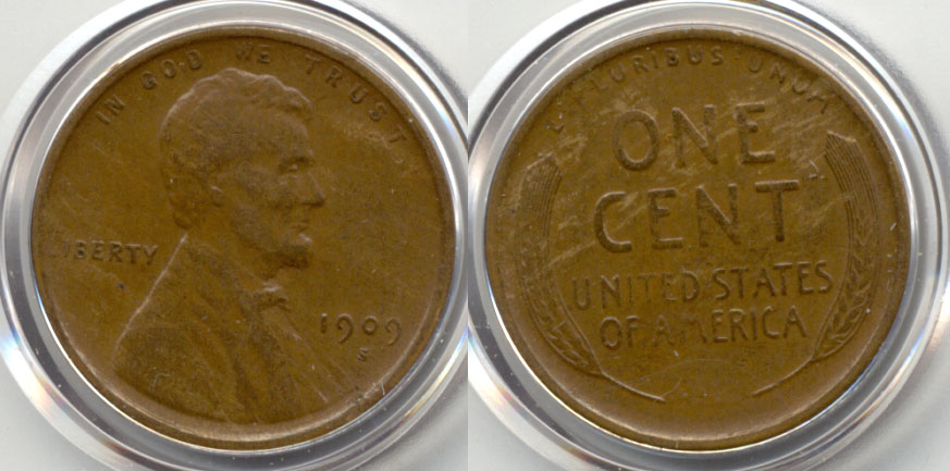 1909-S Lincoln Cent VF-30