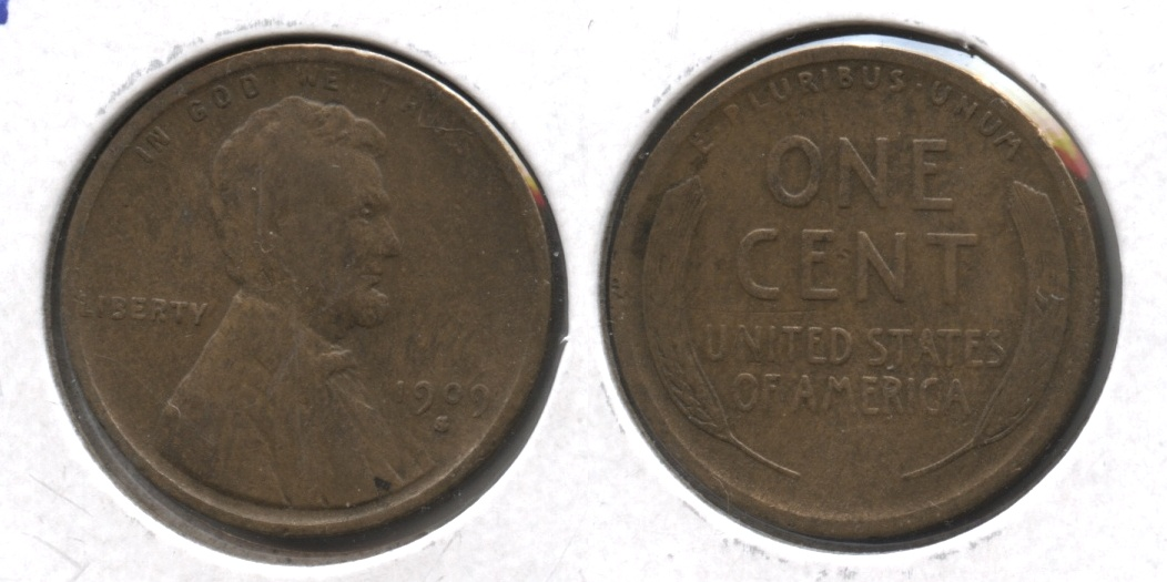 1909-S Lincoln Cent VG-8 #b
