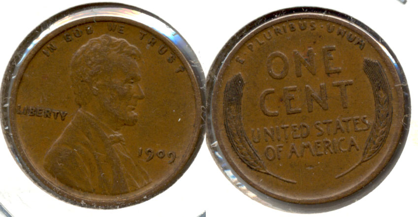1909 Lincoln Cent AU-50 aa
