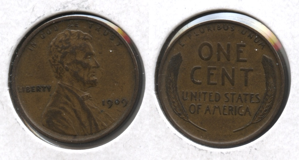 1909 Lincoln Cent EF-40