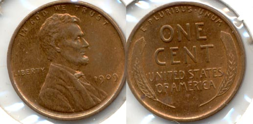 1909 Lincoln Cent MS-60 Brown a