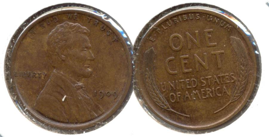 1909 Lincoln Cent MS-60 Brown c