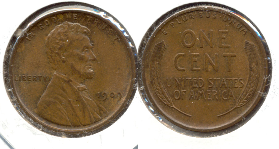 1909 Lincoln Cent MS-60 Brown d