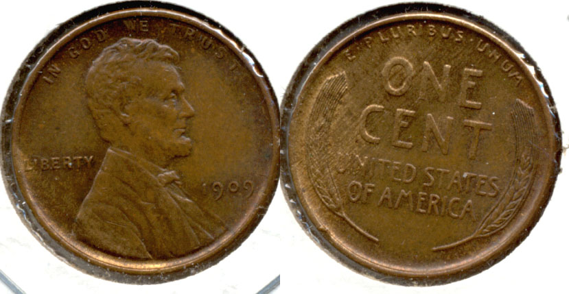 1909 Lincoln Cent MS-63 Brown c