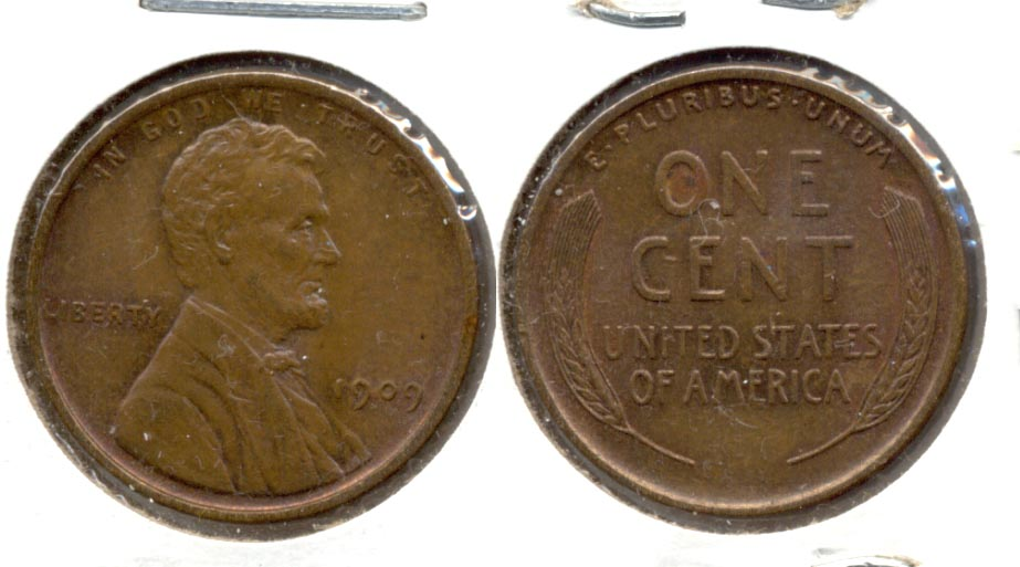 1909 Lincoln Cent MS-63 Brown h