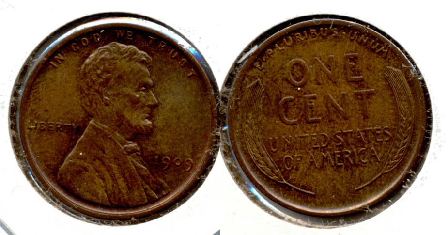 1909 Lincoln Cent MS-63 Brown j