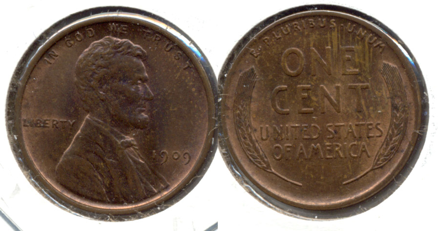 1909 Lincoln Cent MS-63 Brown m